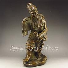 Chinese Bronee Statue - Long Life Old Man