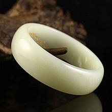 Internal Diameter 56mm Chinese Natural Hetian Jade Bracelet Carved Phoenix