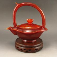 Beautiful Hand Carved Chinese Natural Agate Teapot