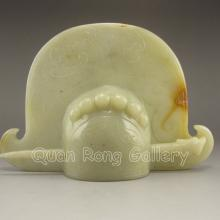 Fine Hand Carved Chinese Natural Jade Hairpin Statue