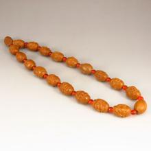 Chinese Olive Seed Buddhism Luohan Necklace