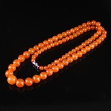 Beautiful Color Chinese Natural Nan Hong Agate Beads Necklace