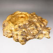 Beautiful Design Hand Carved Chinese Jin Si Nan Wood Ashtray