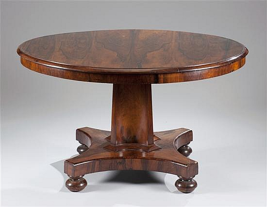 Regency Rosewood Tip-Top Table, Ca. 1900