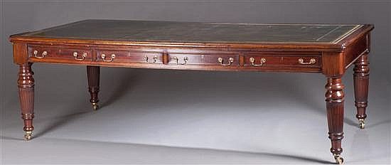Mahogany Writing Table, Ca. 1850