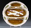 Majolica Three-section Asparagus Serving Dish
