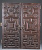Pair of Spanish Colonial Mixed Hardwood Doors