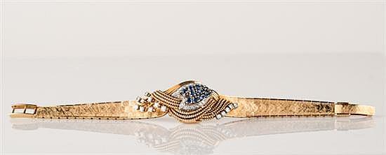 18K Yellow Gold Rolex Bracelet with Hidden Watch, 17 Jewel Movement