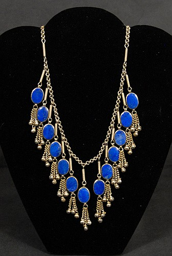 Silver and Lapis Necklace