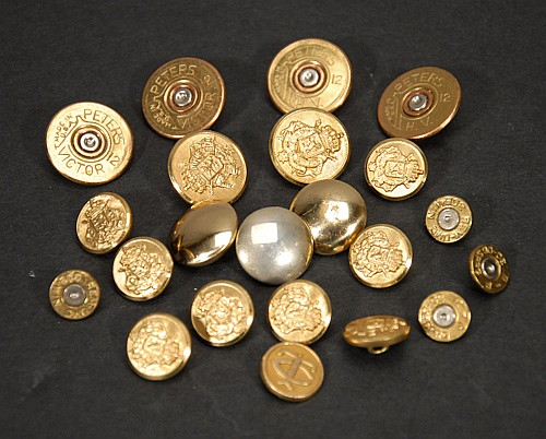 Mixed lot of Brass and Shotgun Shell Buttons