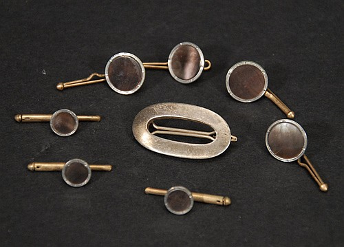 Mixed Lot to Include; Sterling 925 Pin, Mixed Metal Buttons and Cufflinks.