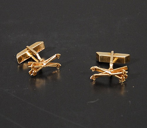 14 Kt. Gold Ski Pole Cufflinks