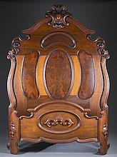 American Victorian Carved Bed