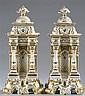 Pair of Porcelain Gilt and Polychrome Scent Bottles