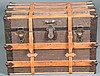 Leather Strap Steamer Trunk