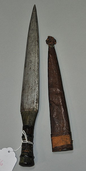African dagger with original leather sheath