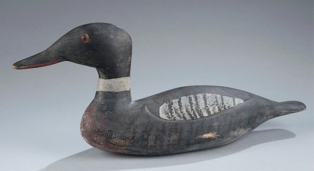 Maryland-style Merganser decoy.