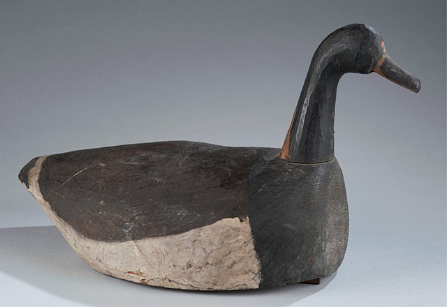Long Island Root Head Goose Decoy