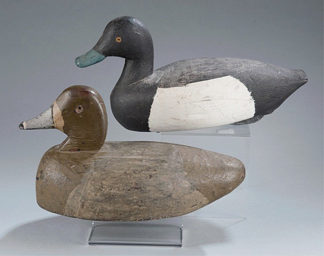 Bluebill Hen and Duck Decoys