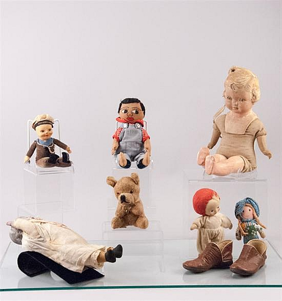 Eight (8) Pieces Of Vintage Baby Dolls