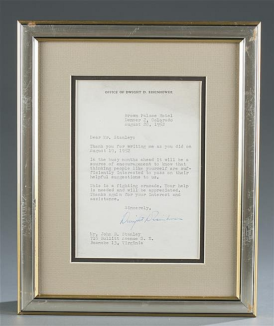 Dwight D. Eisenhower Letter