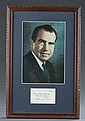 Richard Nixon Print and Signature Card