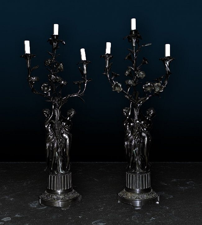 50: Pair of 19th Century Candelabras