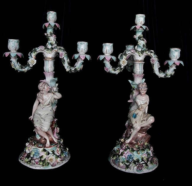 15: Pair of 19th Century German Candelabras