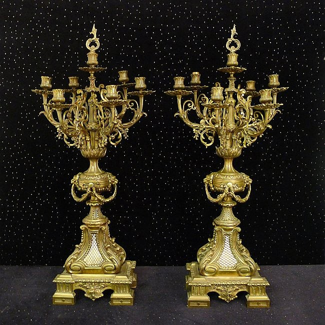 1: Pair of 19th Century Candelabras