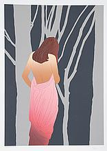 Derrick Brown, Woman in Forest, Serigraph