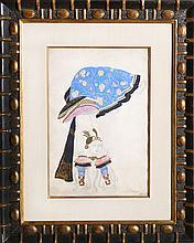 Leon Bakst, Costume Design: The Acrobat, Watercolor, Gouache Painting