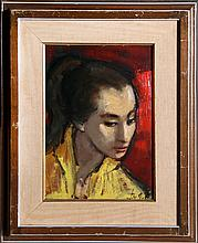 Jan De Ruth, Girl in Yellow, Oil Painting