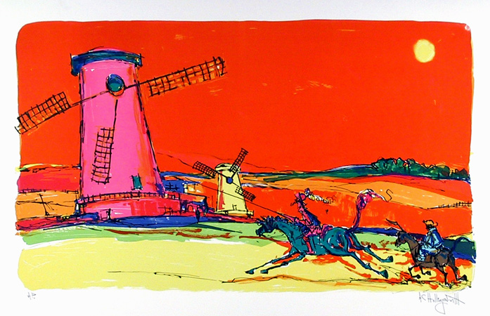 Alvin Carl Hollingsworth, Don Quixote 1, Lithograph