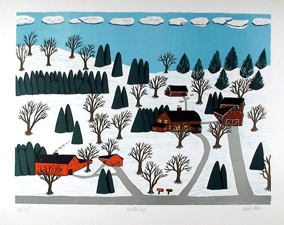 Mike Falco, Winter Day, Serigraph