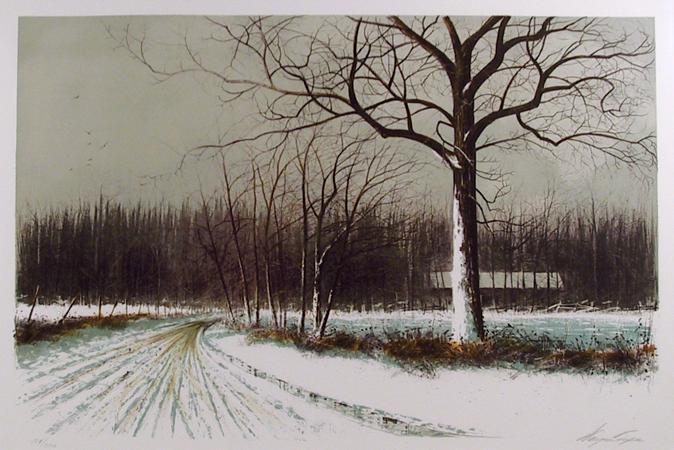 Wayne Cooper, Spring Road, Lithograph