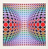 Victor Vasarely, Dyss, Serigraph