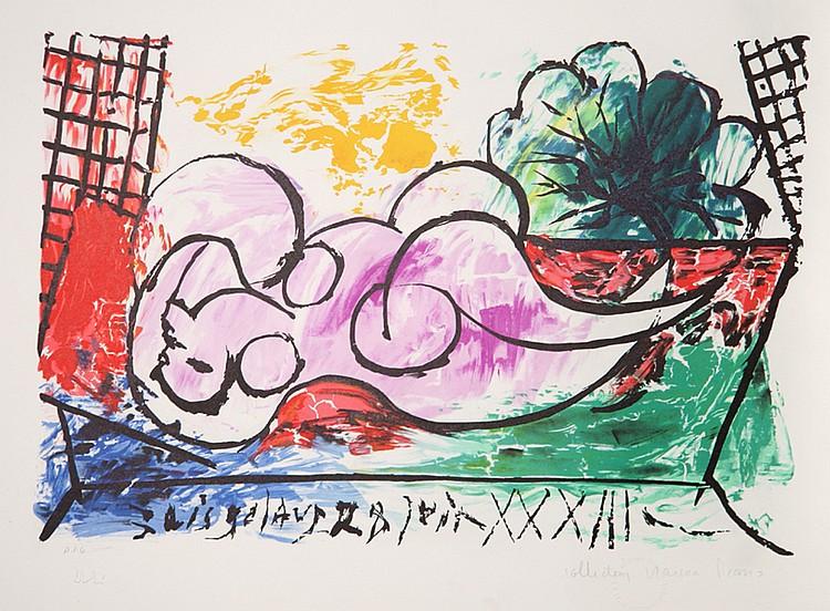 Pablo Picasso, Femme Endormie, Lithograph