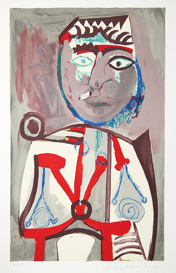Pablo Picasso, Personnage, Lithograph