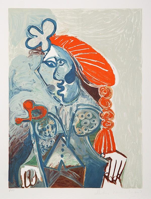 Pablo Picasso, La femme avec le Beret Rouge, Lithograph