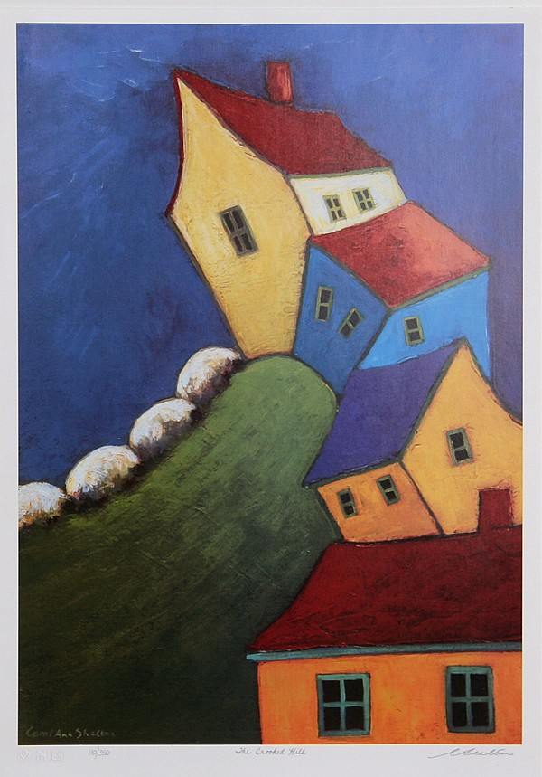 Carol Ann Shelton, Crooked Hill, Lithograph