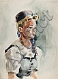 Eve Nethercott, Portrait of a Woman (87), Watercolor
