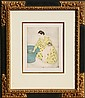 Mary Cassatt, The Bath, Soft Ground Aquatint Etching