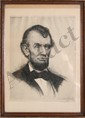 Joseph Pierre Nuyttens, Portrait of Abraham Lincoln, Etching