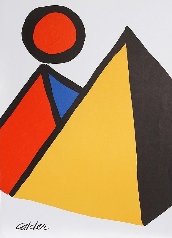 Alexander Calder, Pyramids and Sun, Lithograph