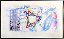 James Rosenquist, Wall Street Journal, Dinner Triangles, Etching