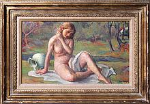 Robert Brackman, Late Summer (Nude), Oil Painting