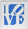 Robert Indiana, Love (Blue), Serigraph, Robert Indiana, $1,500