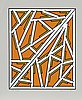 Nicholas Krushenick, Orange One Variant, Serigraph
