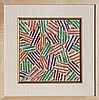 Jasper Johns, Crosshatch (ULAE S.13), Screenprint