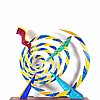 Paul von Ringelheim, Spiral Painted Metal Sculpture